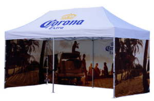 Estampados en carpas plegables