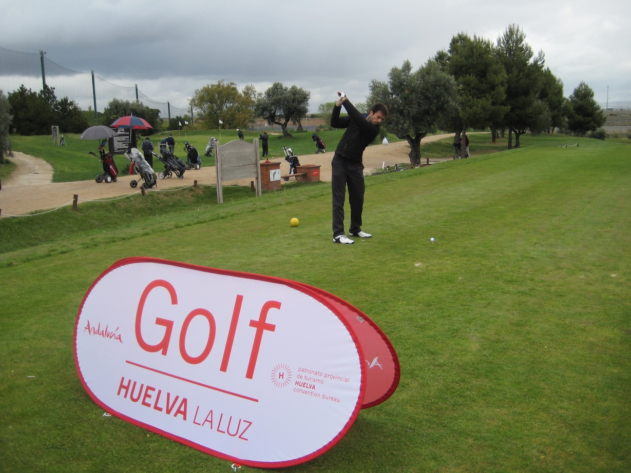 Golf Banner expositor
